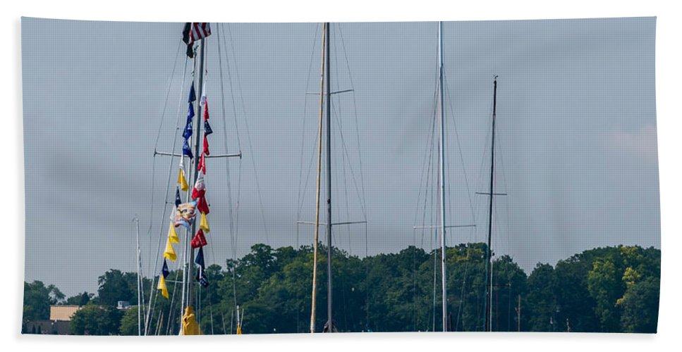 Sailing Bath Sheet featuring the photograph Sailing North by Grace Grogan