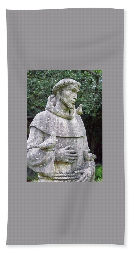 Statue Hand Towel featuring the photograph Saint Francis by Michele Nelson
