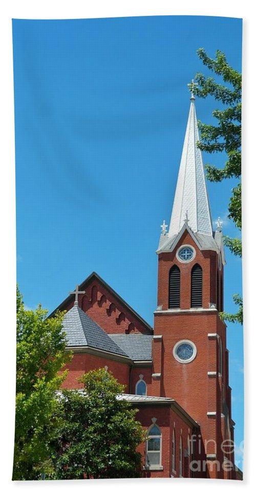 Church Bath Sheet featuring the photograph Saint George Church by John Myers