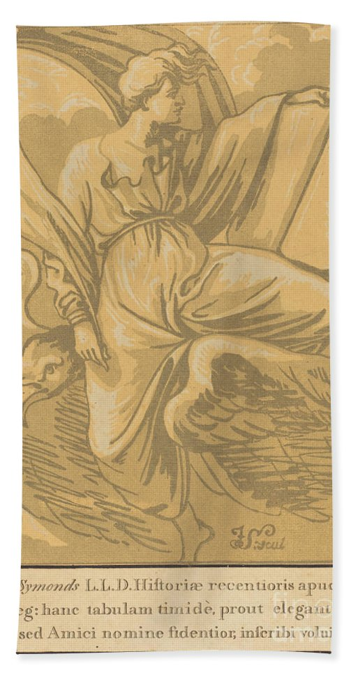 Hand Towel featuring the drawing Saint John The Evangelist by John Skippe After Parmigianino