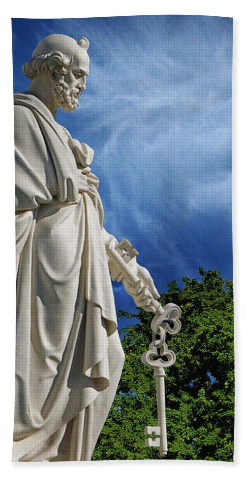 Saint Peter With Keys To Heaven Hand Towel featuring the photograph Saint Peter With Keys To Heaven by Peter Piatt