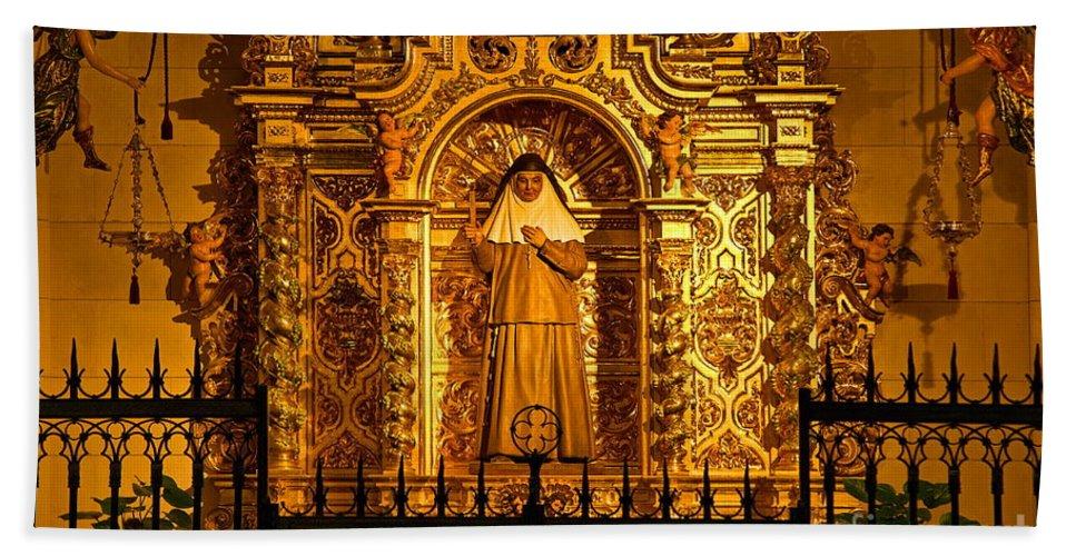 Catedral De La Almudena Bath Sheet featuring the photograph Saints Chapel by John Greim