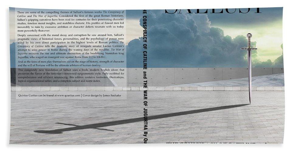 Quintus Curtius Bath Towel featuring the digital art Sallust Cover by Quintus Curtius