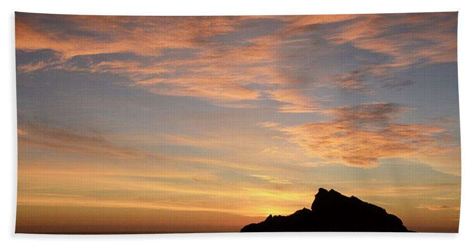 Sunset Hand Towel featuring the photograph Salt Point Sunset by Bob Christopher