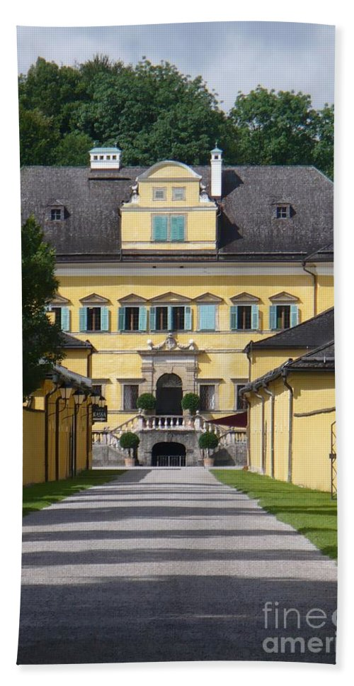 Austria Hand Towel featuring the photograph Salzburg Chateau by Carol Groenen