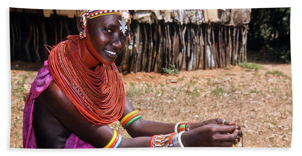 Africa Bath Sheet featuring the photograph Samburu Beauty by Michele Burgess