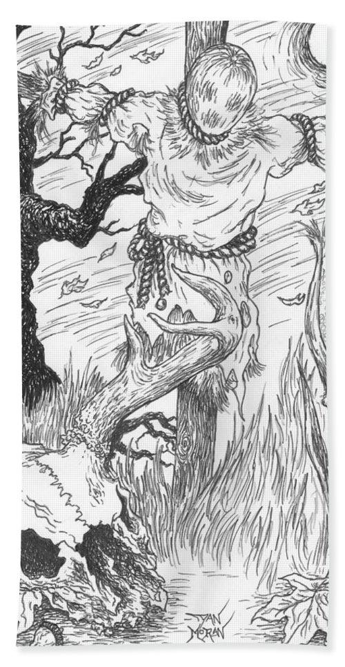 Pen Bath Sheet featuring the drawing Samhain by Dan Moran