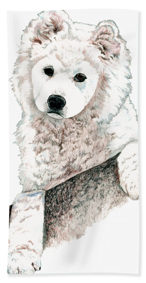 Samoyed Puppy Bath Towel For Sale By Kathleen Sepulveda