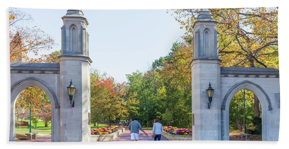 Architecture Hand Towel featuring the photograph Sample Gates At University Of Indiana by Ken Wolter