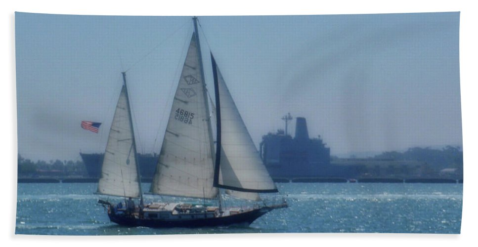Water Bath Sheet featuring the photograph San Diego Bay by JAMART Photography