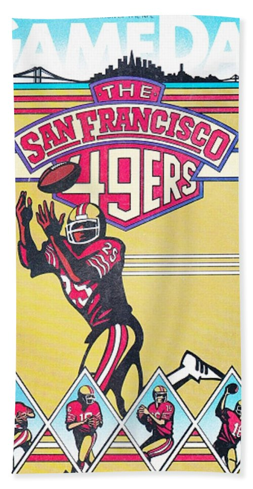 49ers Hand Towel featuring the photograph San Francisco 49ers Vintage Program by Joe Hamilton