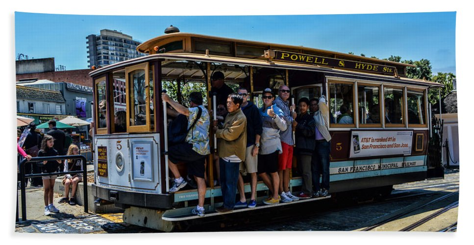 Cable Cars Hand Towel featuring the photograph San Francisco, Cable Cars -3 by Tommy Anderson