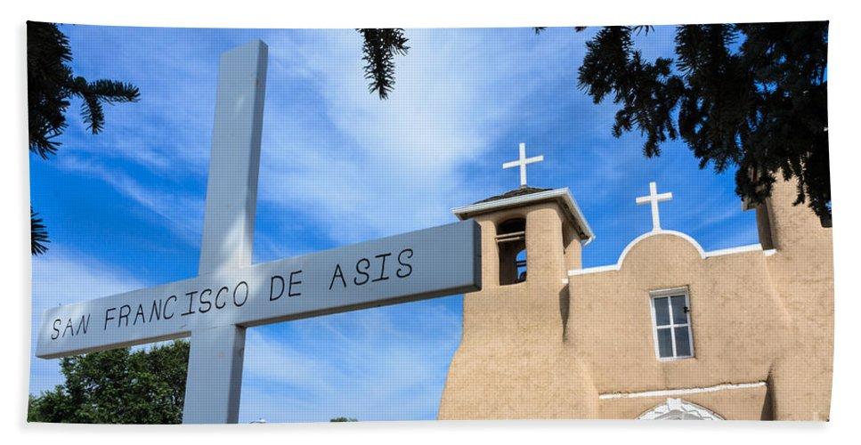 San Francisco De Assisi Mission Church Hand Towel featuring the photograph San Francisco De Asis Church by Debra Martz