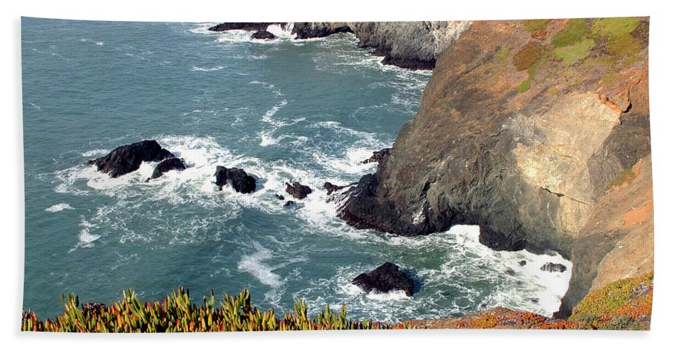 San Francisco Hand Towel featuring the photograph Marin Headlands Bunker by Norman Andrus