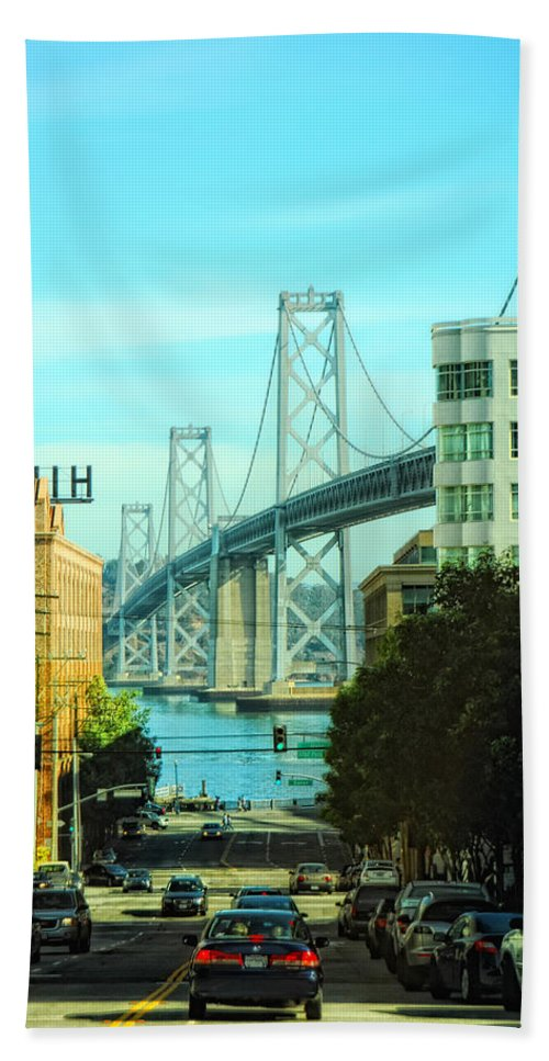 San Francisco Hand Towel featuring the photograph San Francisco Street by Donna Blackhall