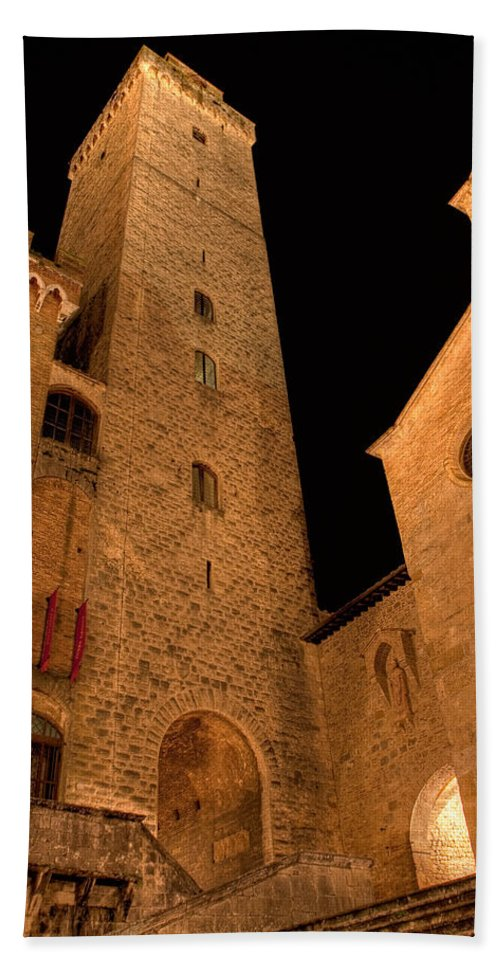 Italy Hand Towel featuring the photograph San Gimignano by Colette Panaioti