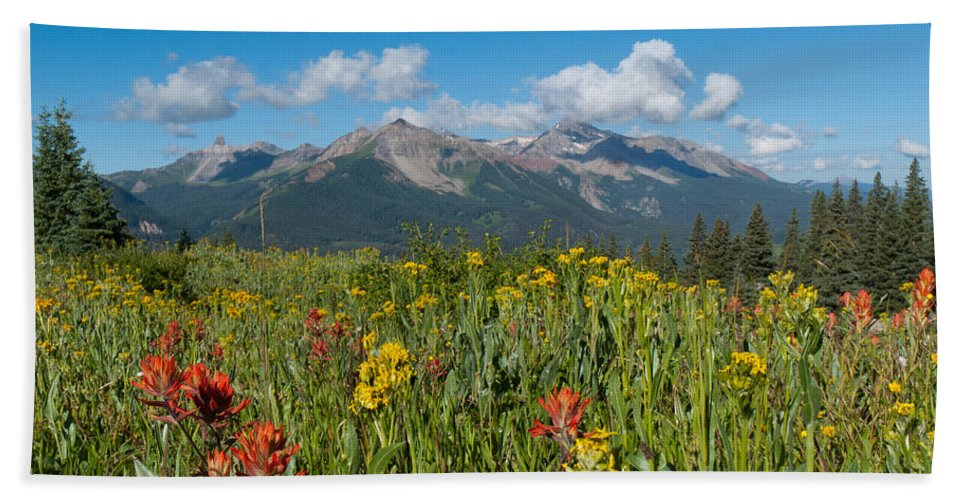 San Miguel Hand Towel featuring the photograph San Miguel Mountains by Cascade Colors