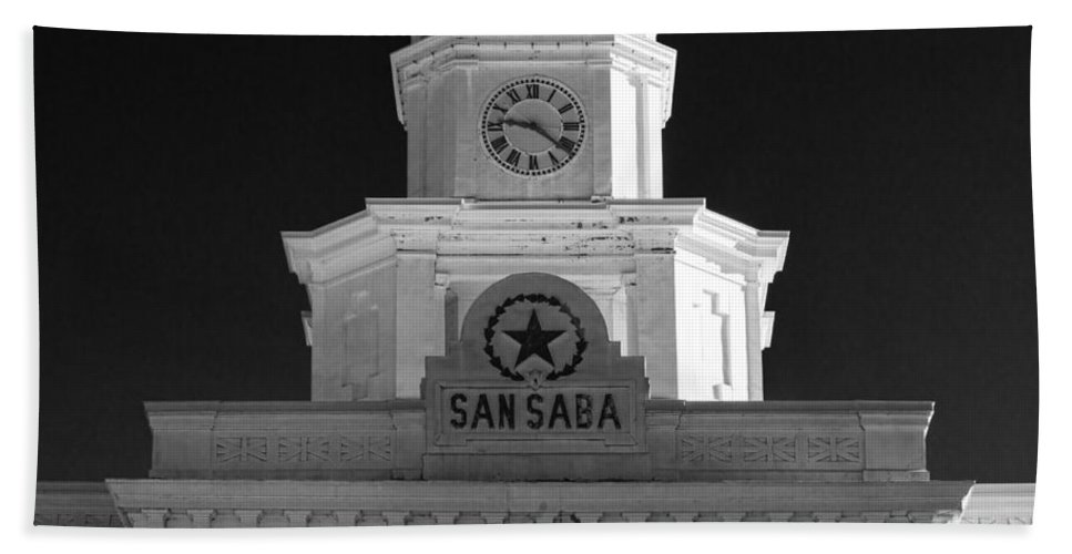 Courthouse Hand Towel featuring the photograph San Saba Couthouse by Stephen Stookey