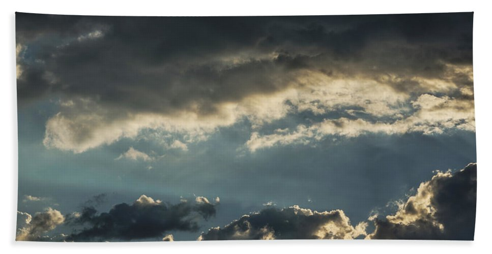 Sunset Hand Towel featuring the photograph San Salvador Sunset 2 by Totto Ponce