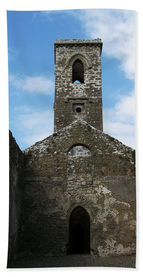 Ireland Hand Towel featuring the photograph Sanctuary Fuerty Church Roscommon Ireland by Teresa Mucha