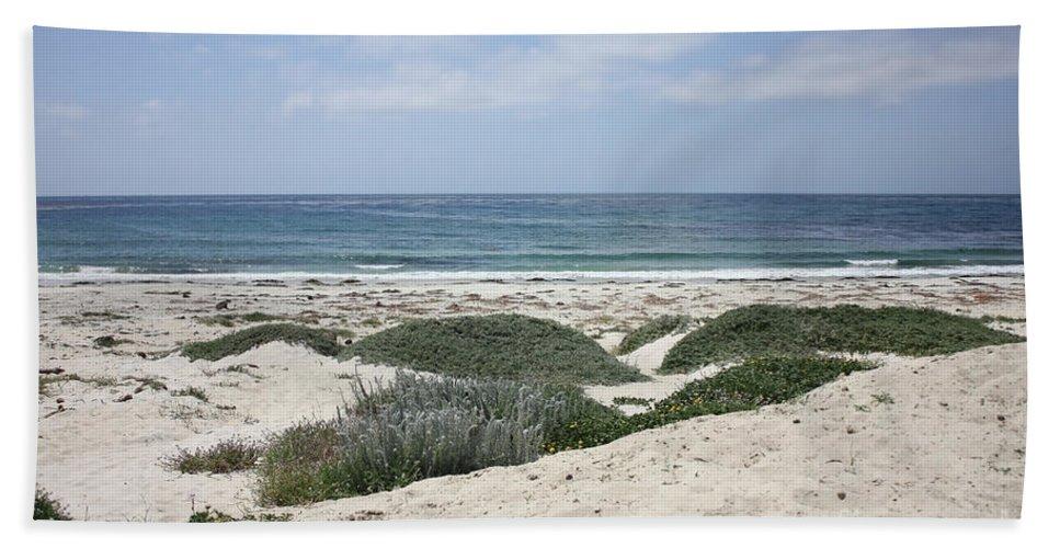 Sandy Beach Bath Sheet featuring the photograph Sand And Sea by Carol Groenen