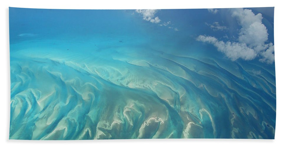 Ocean Bath Sheet featuring the photograph Sand Banks by Kimberly Mohlenhoff