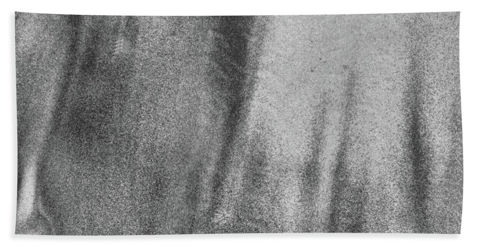 Abstract Bath Sheet featuring the photograph Sand Blend Bw by Lyle Crump