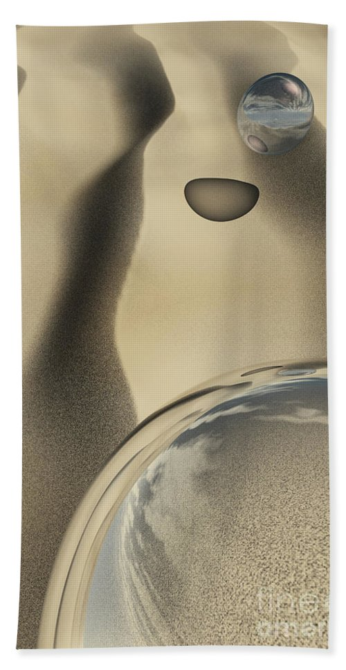 Contemporary Hand Towel featuring the digital art Sand Bubbles by Richard Rizzo