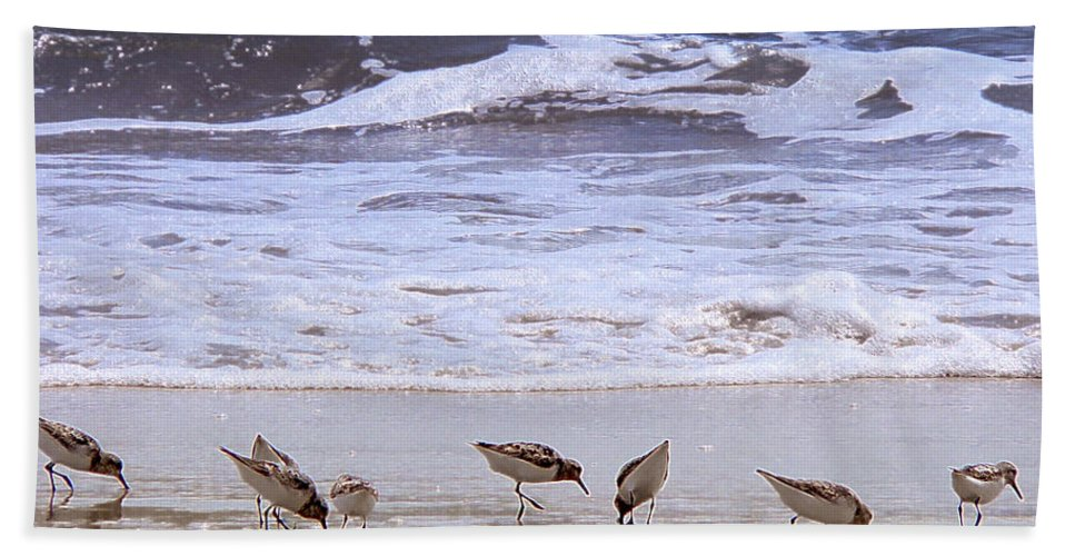 Beach Hand Towel featuring the photograph Sand Dancers by Steven Sparks