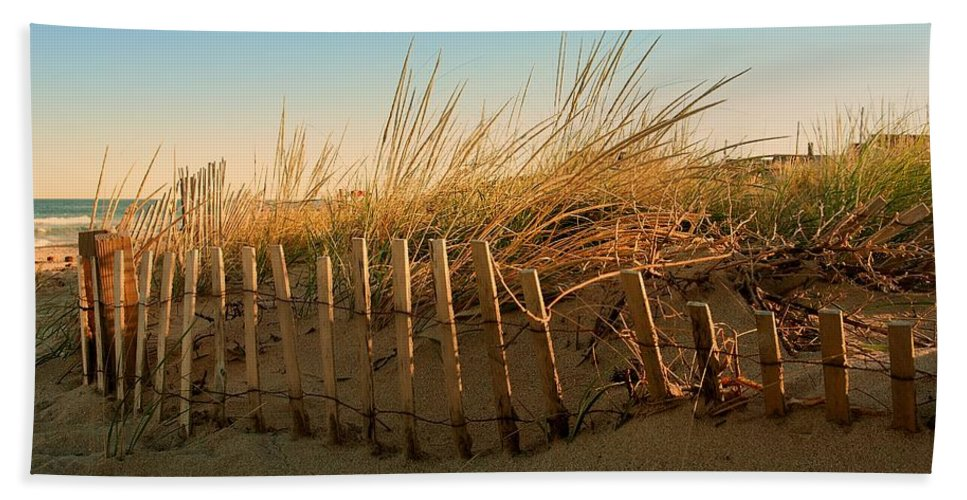 Jersey Shore Hand Towel featuring the photograph Sand Dune In Late September - Jersey Shore by Angie Tirado