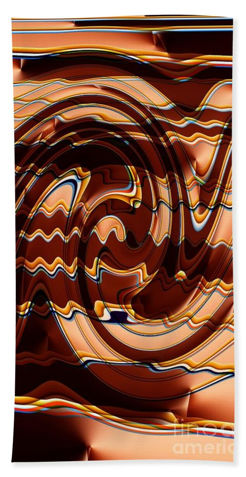 Abstract Hand Towel featuring the digital art Sand Painting by Ron Bissett