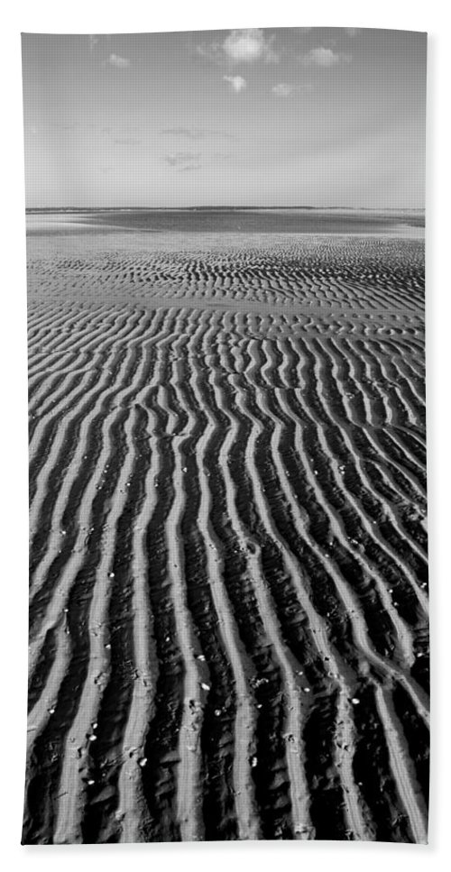 Sandbar Hand Towel featuring the photograph Sandbar Patterns by Charles Harden