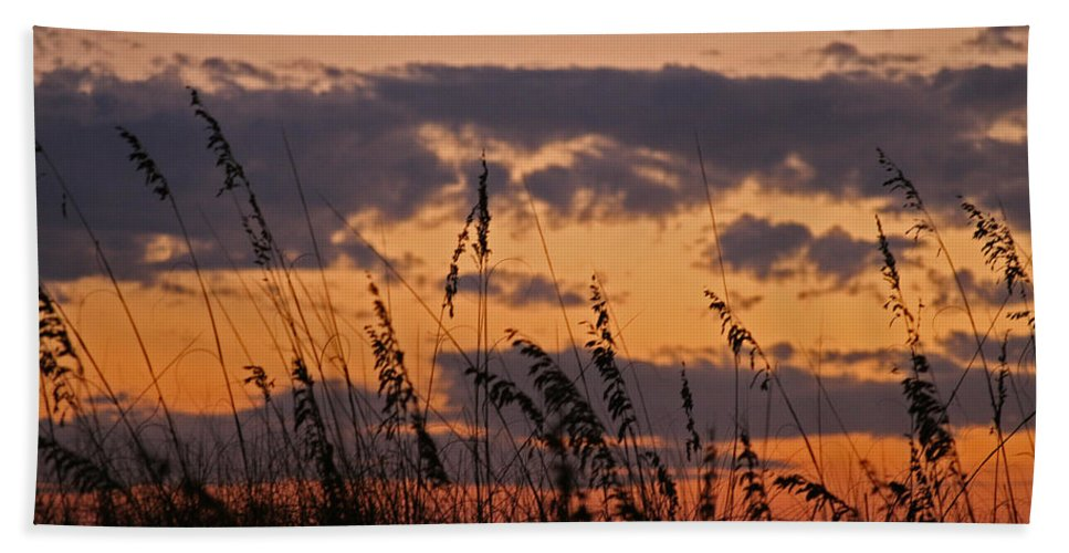 Sunset Hand Towel featuring the photograph Sandestin by David Campbell