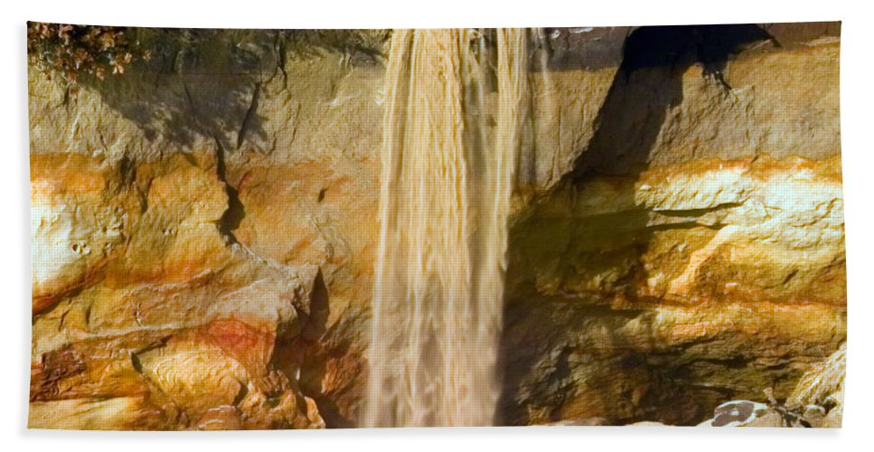 Sandfall Hand Towel featuring the photograph Sandfall by Randall Ingalls