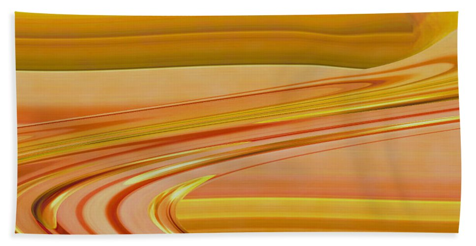 Sunset Art Bath Sheet featuring the digital art Sands Of Time by Linda Sannuti