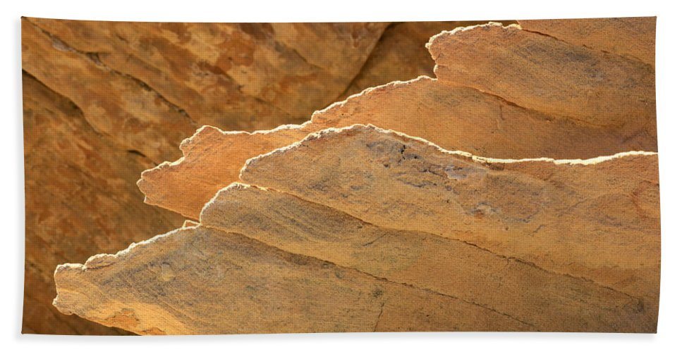 Nevada Hand Towel featuring the photograph Sandstone Fins by Bob Christopher