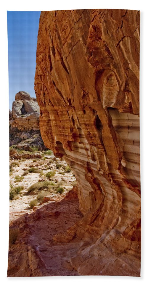 Sandstone Texture Hand Towel featuring the photograph Sandstone Texture by Chris Brannen