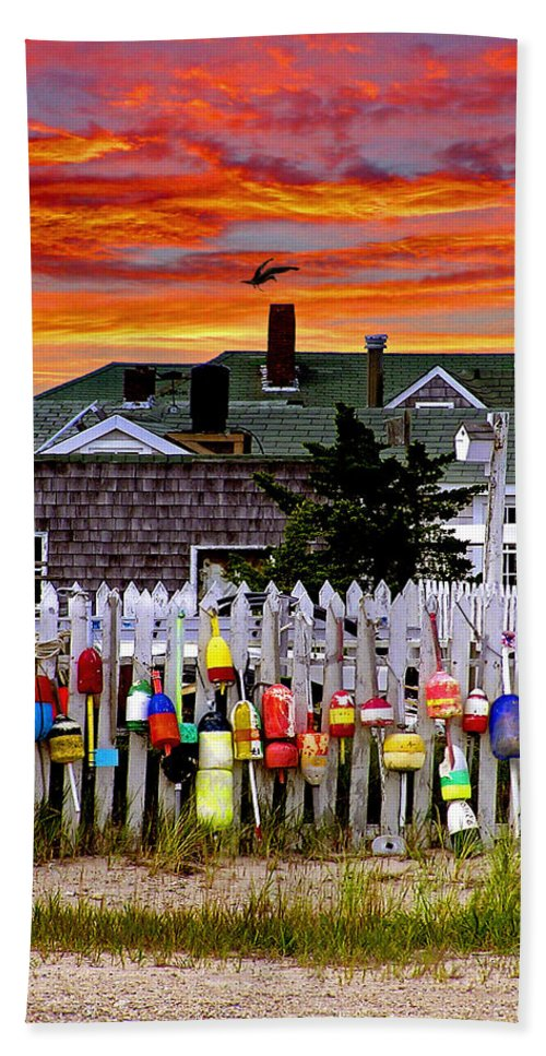 Sandy Neck Hand Towel featuring the photograph Sandy Neck Sunset by Charles Harden