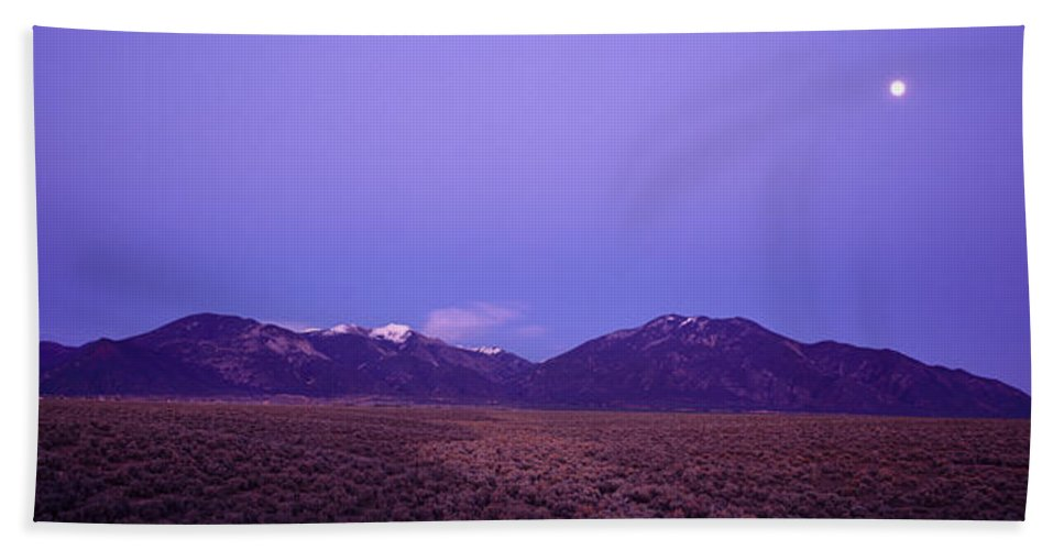 Photography Bath Sheet featuring the photograph Sangre De Cristo Mountains At Sunset by Panoramic Images