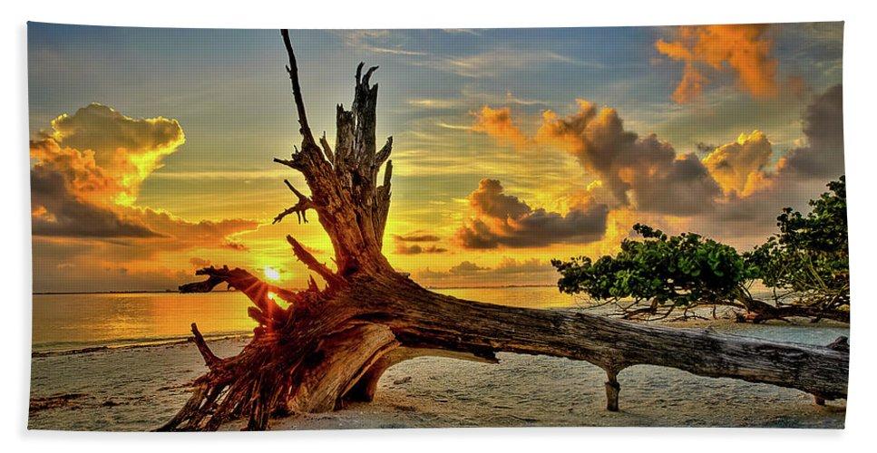 Sanibel Sunrise Hand Towel featuring the photograph Sanibel Sunrise by Dennis Goodman