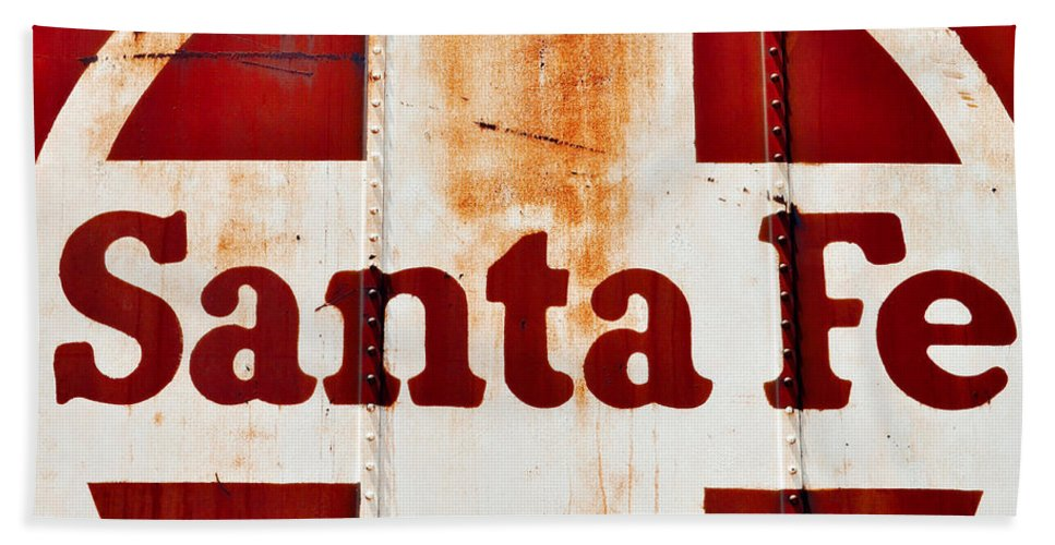 Route 66 Hand Towel featuring the photograph Santa Fe Railway by Kyle Hanson