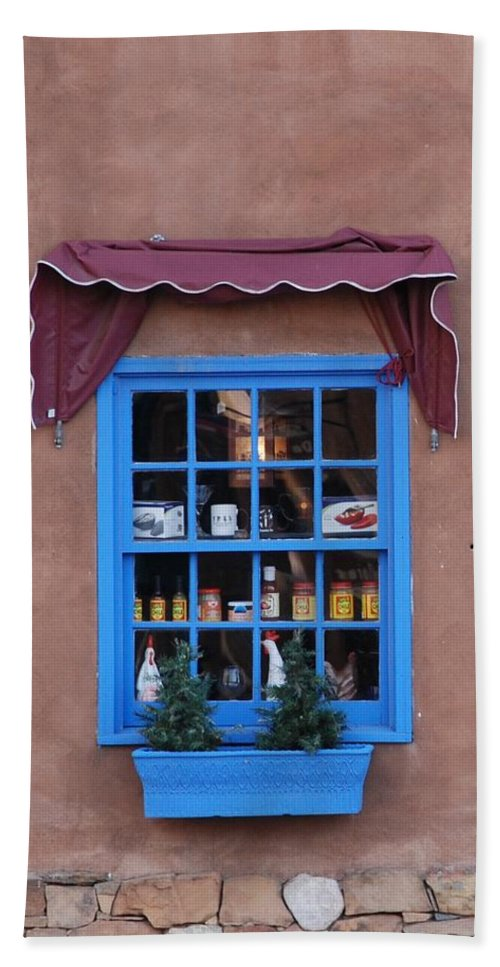 Architecture Bath Towel featuring the photograph Santa Fe Window by Rob Hans