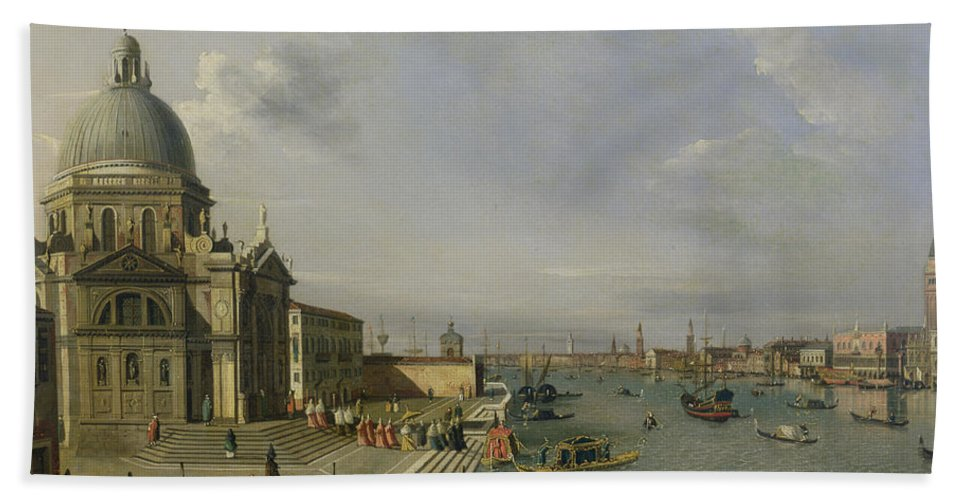 Santa Bath Sheet featuring the painting Santa Maria Della Salute - Venice by William James