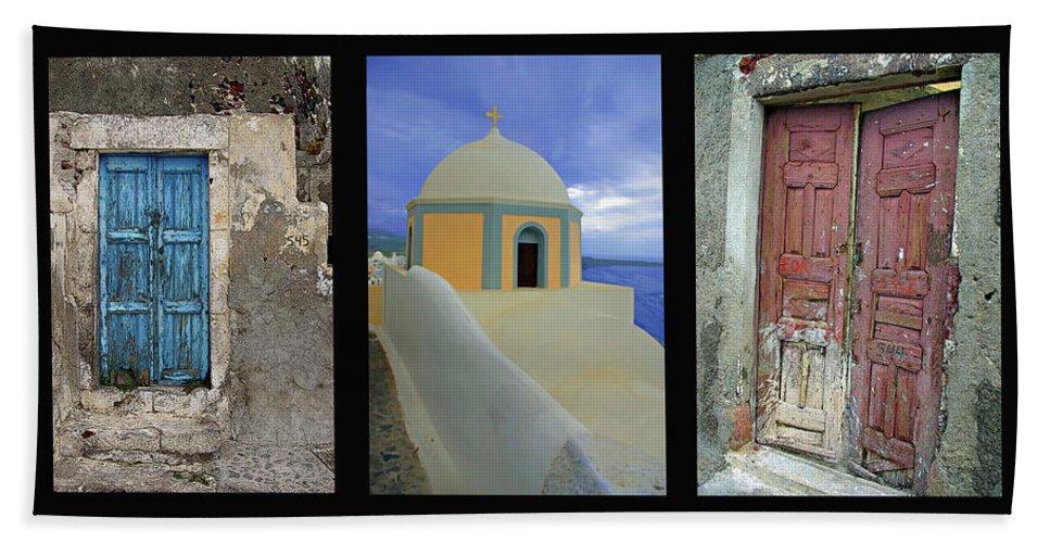 Greece Bath Sheet featuring the photograph Santorini Memories by Rich Walter