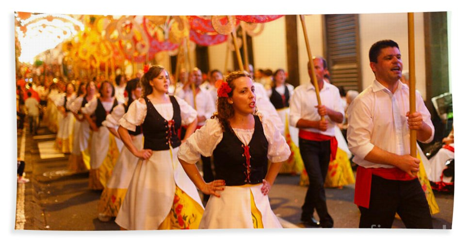 Portugal Bath Sheet featuring the photograph Sao Joao Da Vila Festival by Gaspar Avila