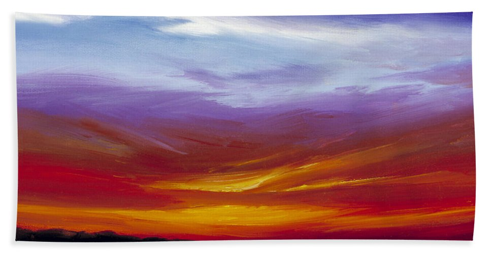 Skyscape Hand Towel featuring the painting Sarasota Bay I by James Christopher Hill