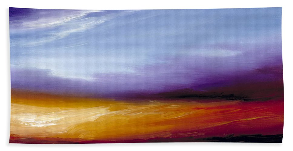 Skyscape Bath Towel featuring the painting Sarasota Bay II by James Christopher Hill