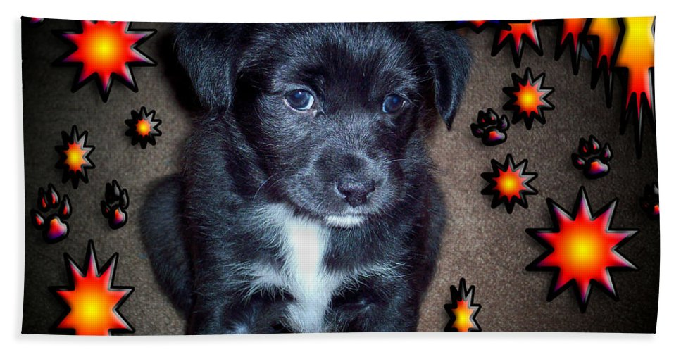 Puppy Bath Sheet featuring the photograph Sasha by Robert Orinski