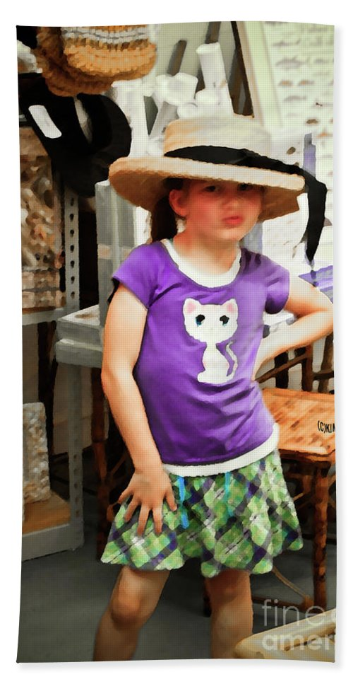 Children Hand Towel featuring the photograph Sass In The Gift Shop by Kim Henderson