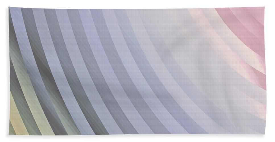 Satin Pillowcase Bath Sheet featuring the painting Satin Movements Lavender by Mindy Sommers